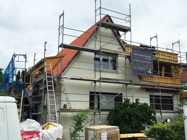 Foto von Ryan Baugestaltung zeigt die Bauphase eines Anbaues in Hamburg