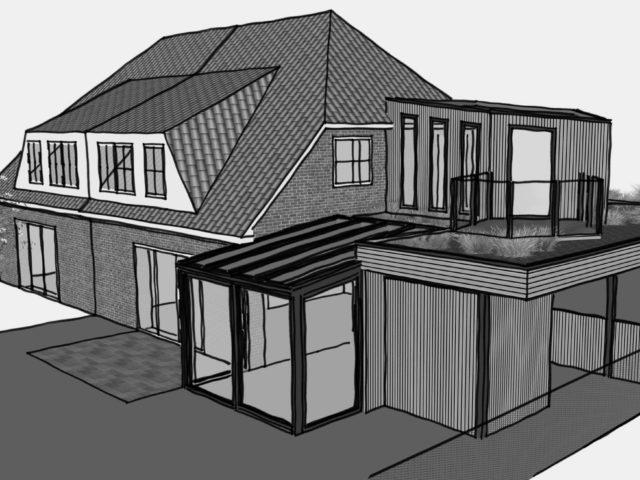 Bild von pablo baugestaltung zeigt einen Entwurf eines anbaues