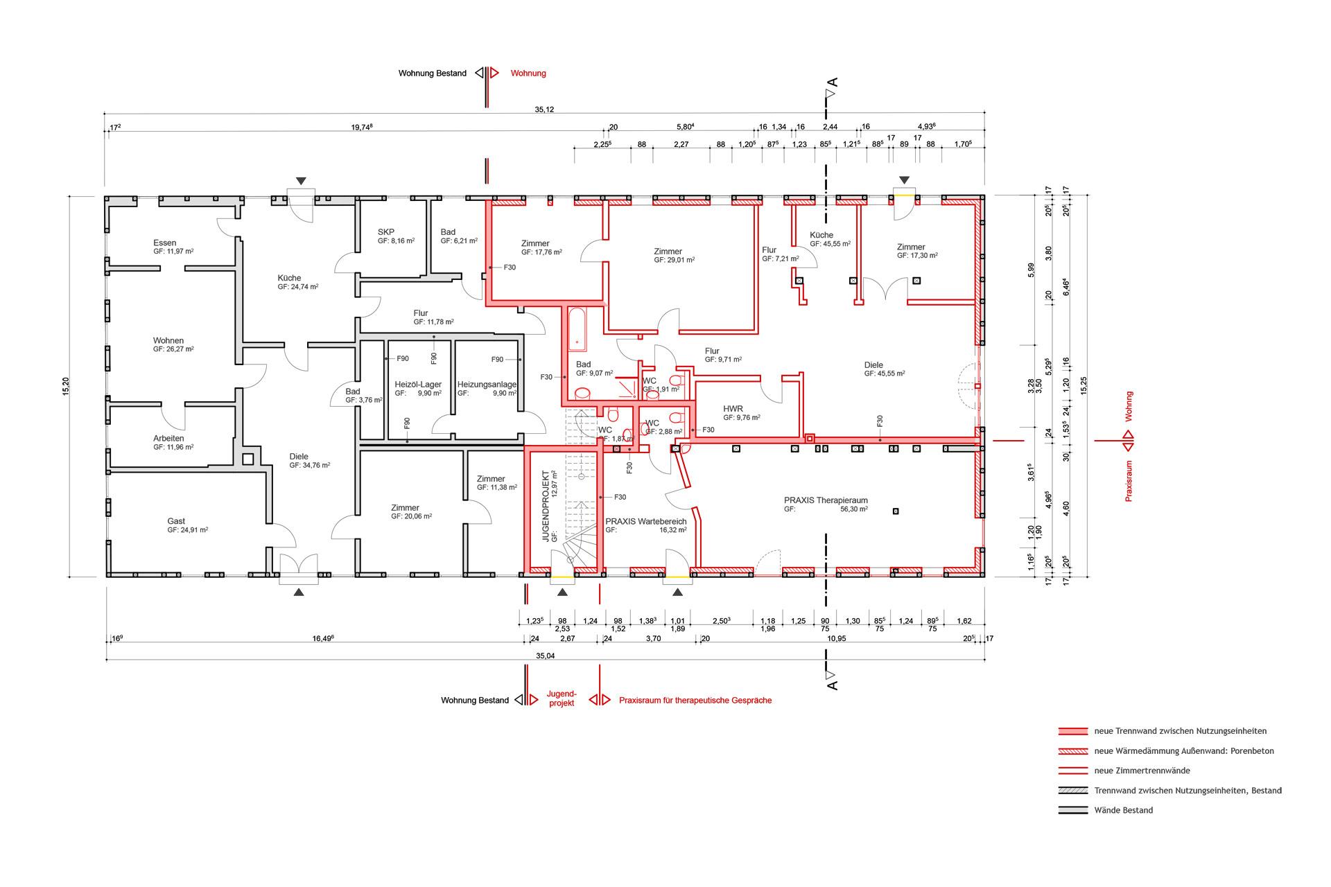 Foto von pablo baugestaltung zeigt die sansierungspläne des denkmalgeschützem Bauernhaus Juergenstorf