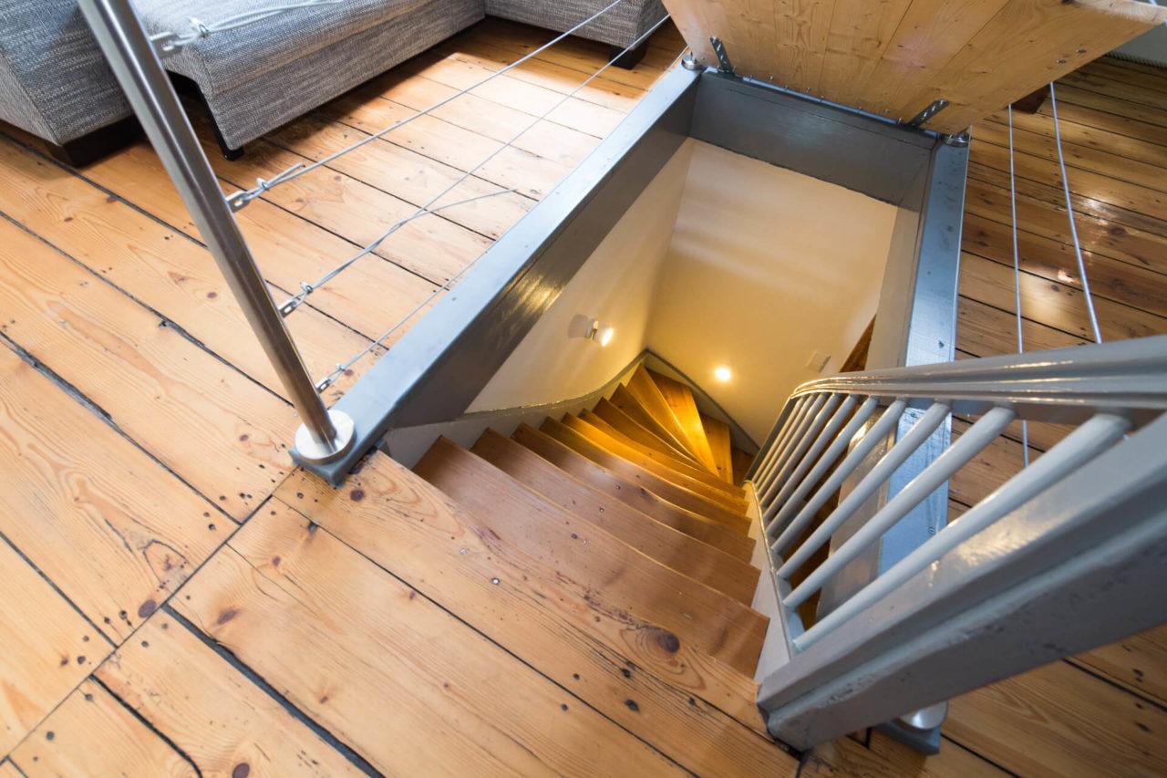 Foto Fachwerkhaus Lüneburg von Ryan Baugestaltung Hamburg original Treppe modernisiert