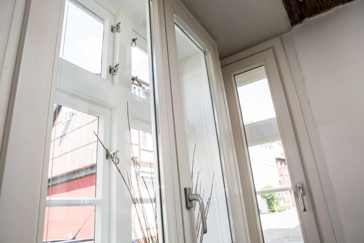 Foto isolierte Fenster des moderinisierten Fachwerkhauses Lüneburg von Ryan Baugestaltung Hamburg