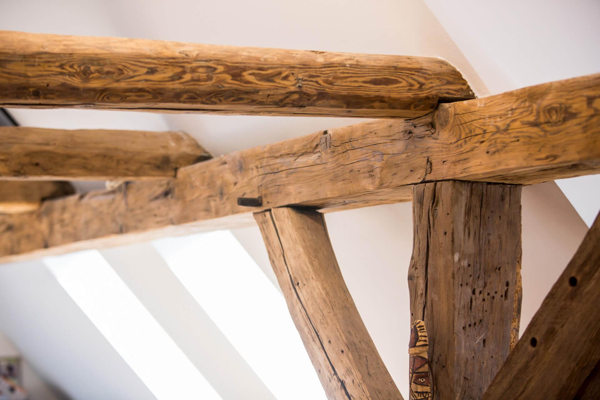 Foto Ryan Baugestaltung Fachwerkhaus Goettingen sanierte Holzbalken