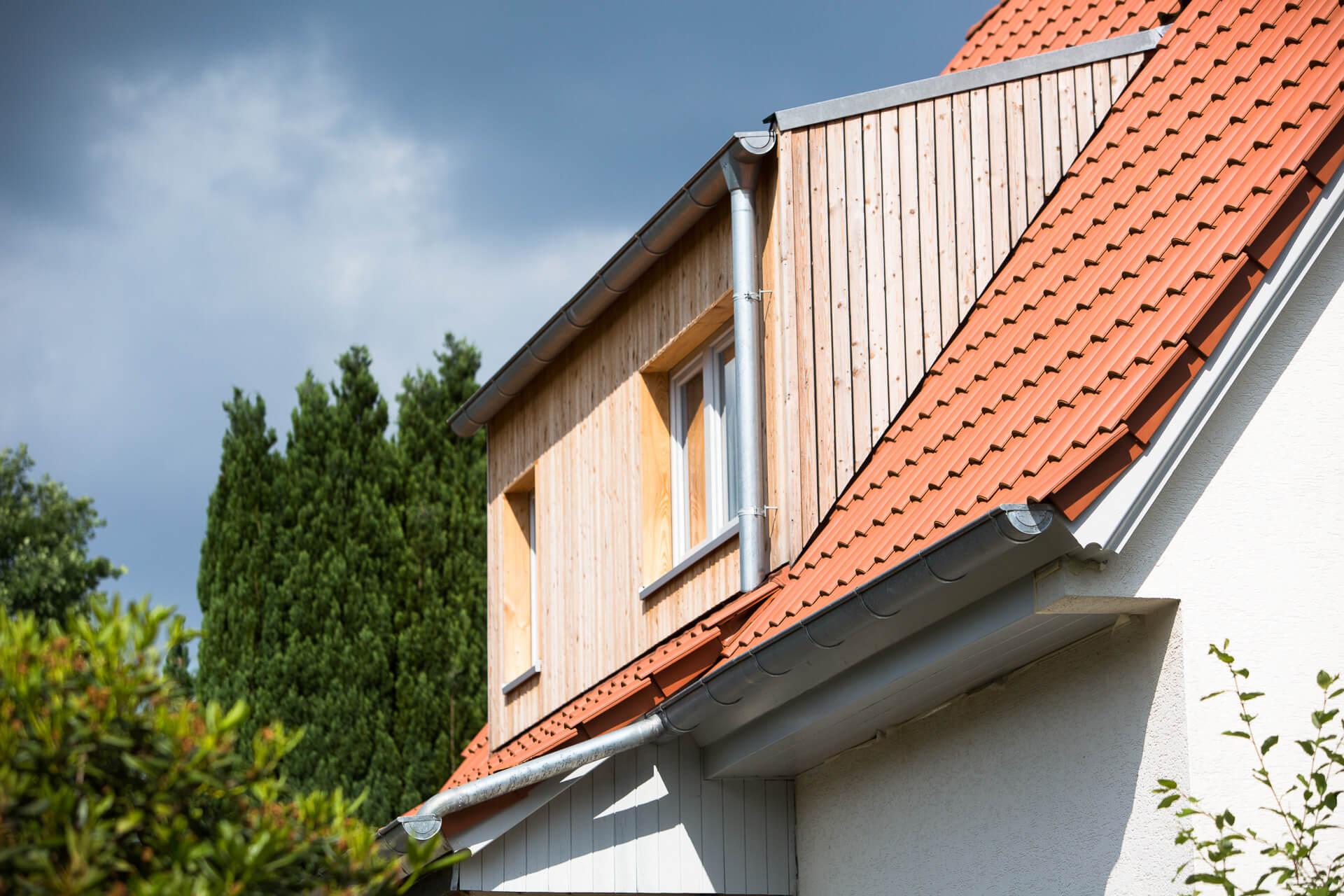 Foto Ryan Baugestaltung Anbau Volksdorf Holzgiebel Dachgeschoss